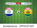 paraguay vs bolivia scoreboard... | Shutterstock .eps vector #1991427107