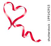 Heart Made Of Red Ribbon On...