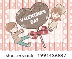 cute couple valentine card... | Shutterstock .eps vector #1991436887