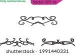 hand drawn vector dividers.... | Shutterstock .eps vector #1991440331