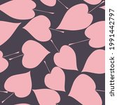 seamless pattern with pink hand ... | Shutterstock .eps vector #1991442797