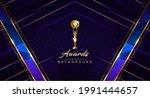 royal blue golden awards... | Shutterstock .eps vector #1991444657