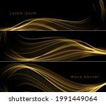 vector abstract golden lines on ...   Shutterstock .eps vector #1991449064
