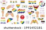 a set of stickers  an lgbtq... | Shutterstock .eps vector #1991452181