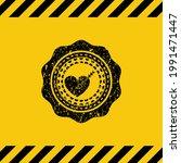love icon black grunge emblem... | Shutterstock .eps vector #1991471447
