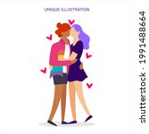 an illustration depicting two... | Shutterstock .eps vector #1991488664