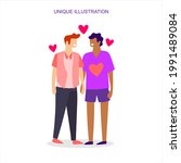 an illustration depicting two... | Shutterstock .eps vector #1991489084