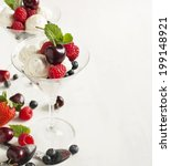 white chocolate mousse with... | Shutterstock . vector #199148921