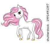 beautiful illustration of cute... | Shutterstock .eps vector #1991491397