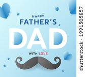 happy father's template  on... | Shutterstock .eps vector #1991505857