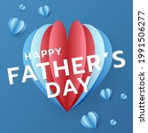 happy father's with heart... | Shutterstock .eps vector #1991506277