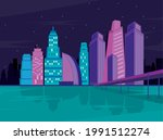 metropolis buildings night city ...   Shutterstock .eps vector #1991512274