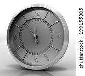 3d illustration of chrome watch ...   Shutterstock . vector #199155305