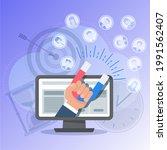 attracting potential customers. ... | Shutterstock .eps vector #1991562407