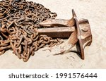 Huge Rusty Anchor Chains With...