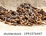 Huge Rusty Anchor Chains Of An...