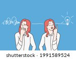 having great idea and thinking... | Shutterstock .eps vector #1991589524