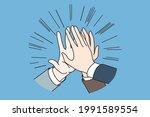 teamwork  agreement  success... | Shutterstock .eps vector #1991589554