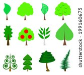 icons of trees. vector | Shutterstock .eps vector #199160675
