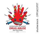 international day against drug... | Shutterstock .eps vector #1991621957