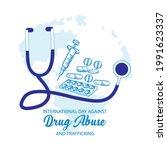 international day against drug... | Shutterstock .eps vector #1991623337