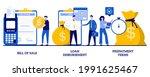 bill of sale  loan disbursement ...   Shutterstock .eps vector #1991625467