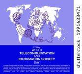 world telecommunication and... | Shutterstock .eps vector #1991633471
