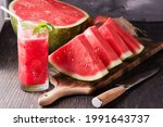 Fresh Watermelon Juice With Ice ...