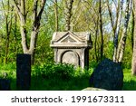 Old Stone Crosses And Crypt At...