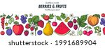 berries and fruits drawing...   Shutterstock .eps vector #1991689904