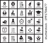 a set of employee benefit icon  ... | Shutterstock .eps vector #1991706677