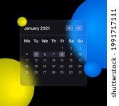 glassmorhism calendar template. ...