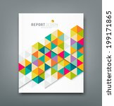 cover report abstract colorful... | Shutterstock .eps vector #199171865