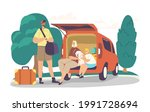 parents and son ready for road... | Shutterstock .eps vector #1991728694