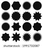 black star stickers. star shape ...   Shutterstock .eps vector #1991732087