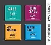 sales templates. great vector... | Shutterstock .eps vector #1991733824