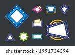 frames light bulbs shining set   Shutterstock .eps vector #1991734394