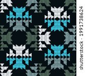 mexican plaid. navajo. seamless ...   Shutterstock .eps vector #1991738624