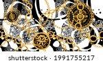 seamless pattern decorated with ...   Shutterstock .eps vector #1991755217