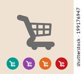 cart icon in flat style on...