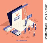 self promotion own brand... | Shutterstock .eps vector #1991776004