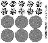 spirals pattern set. vector... | Shutterstock .eps vector #199178201
