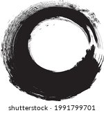 circle brush stroke .vector...   Shutterstock .eps vector #1991799701