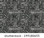 seamless doodle communication... | Shutterstock .eps vector #199180655