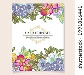 invitation greeting card with...   Shutterstock .eps vector #1991816441