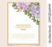 invitation greeting card with...   Shutterstock .eps vector #1991816444