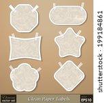 vector set   vintage paper... | Shutterstock .eps vector #199184861