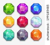 cartoon vector gems and... | Shutterstock .eps vector #199185485