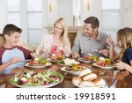 family enjoying meal mealtime... | Shutterstock . vector #19918591