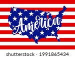 america   usa flag in united... | Shutterstock .eps vector #1991865434